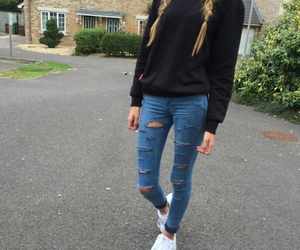 girl, jeans, and street image