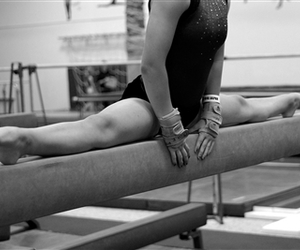 beam, gymnastics, and middle image