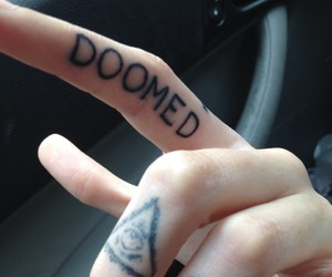 tattoo, doomed, and grunge image