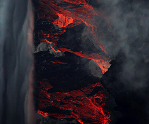 lava, mountains, and landscape image