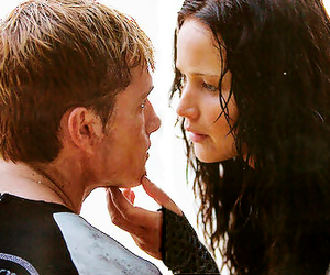 catching fire, peeta, and katniss image