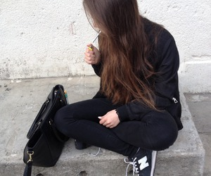 girl, black, and grunge image