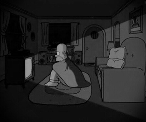homer, simpsons, and tv image