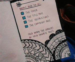 diy, doodles, and wreck this journal image