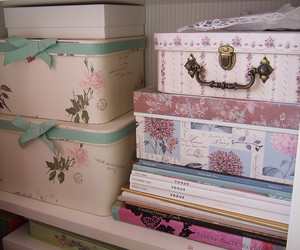 boxes, shelf, and vogue image
