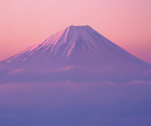 mountains, pink, and japan image