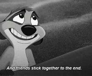 friends, quote, and timon image