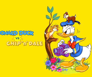 disney, donald duck, and chip n dale image