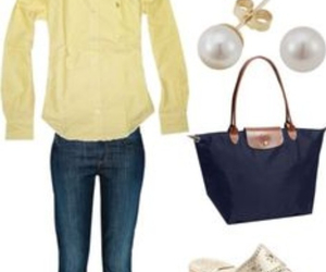 jeans, pearls, and preppy image