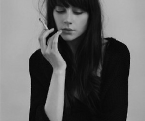 black, cigarette, and hair image