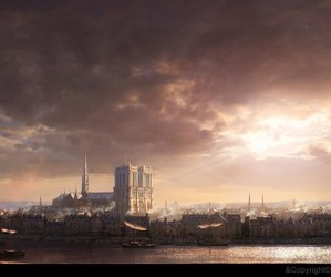 concept art, paris, and assassin's creed image