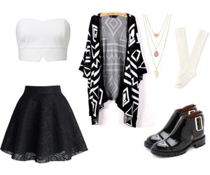black, fashion, and Polyvore image