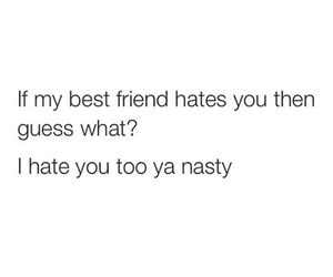best friends, funny, and hate image