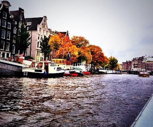 amsterdam, boats, and europe image