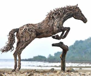 horse, animal, and sculpture image