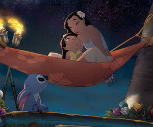 disney, stitch, and ohana image