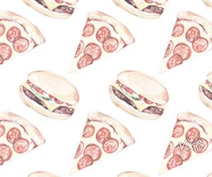 hamburger and pizza image