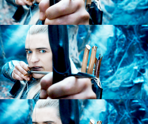 bow, Legolas, and middle earth image
