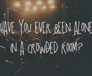 quote, alone, and concert image