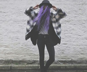 grunge, purple, and hair image