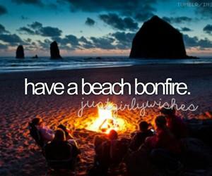 beach, bonfire, and bucket list image