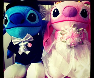 couple, stitch, and cute image