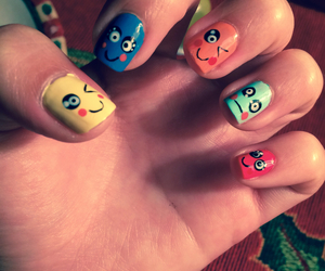 cool, faces, and nails image