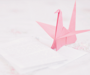 pink, origami, and kawaii image