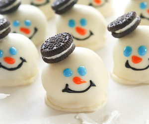 oreo, food, and snowman image