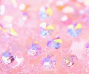 pink, diamond, and wallpaper image