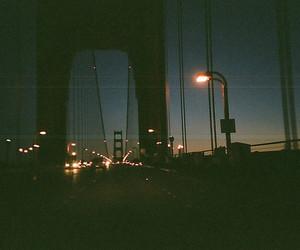 night, light, and bridge image