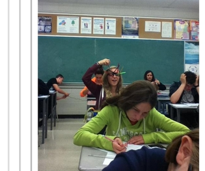 funny, school, and tumblr image