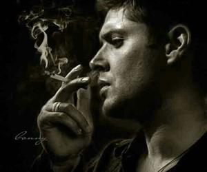 cigarette, dean winchester, and smoke image