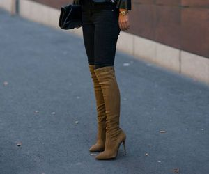 fashion, boots, and girl image