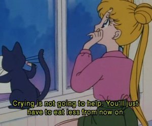 sailor moon, anime, and cat image