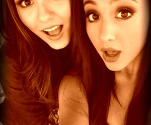 ariana grande, victoria justice, and victorious image