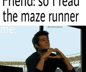 book, maze runner, and read image