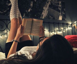 beautiful, book, and girl image