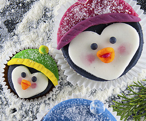 cupcakes, penguin, and dessert image