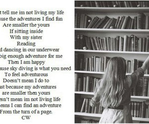 book, bookworm, and life image