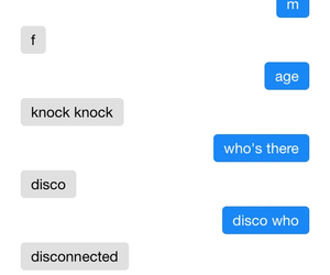 conversation, funny, and omegle image