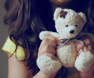 girl, cute, and bear image