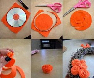 diy, flowers, and orange image