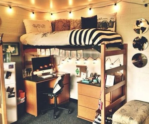 college, decor, and hippie image