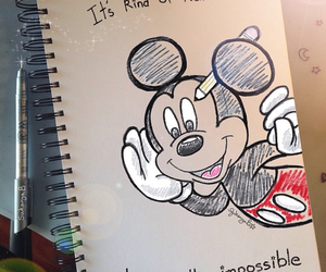 awsome, mickey mouse, and words image