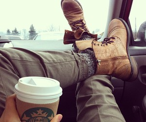 starbucks, coffee, and boots image