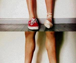 dance, ballet, and vans image