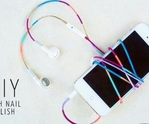diy, nail polish, and iphone image