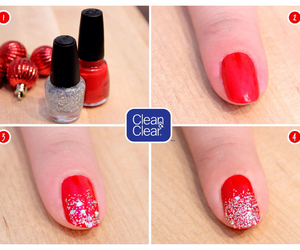 nails, red, and tutorial image