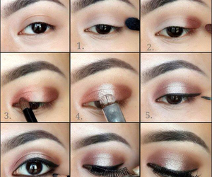 brown, casual, and makeup image
